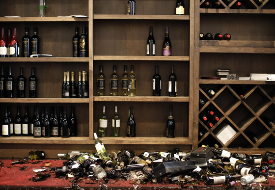 Что делать если разбил бутылку в магазине