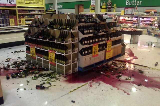 Разбили бутылку в магазине что делать