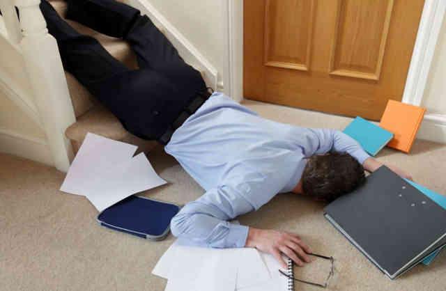 Производственная травма полученная офисным работником