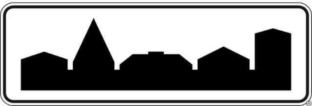 Знак населённый пункт