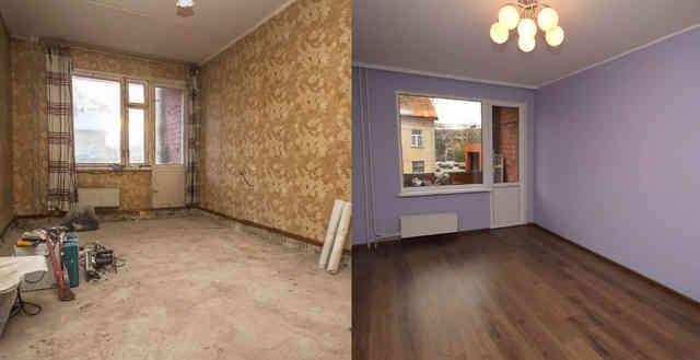Кухня в квартире до и после косметического ремонта